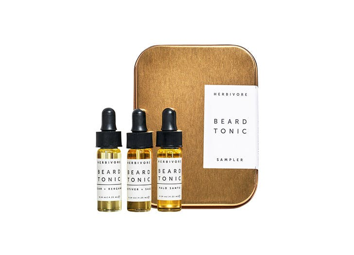 herbivore botanicals beard tonic sampler