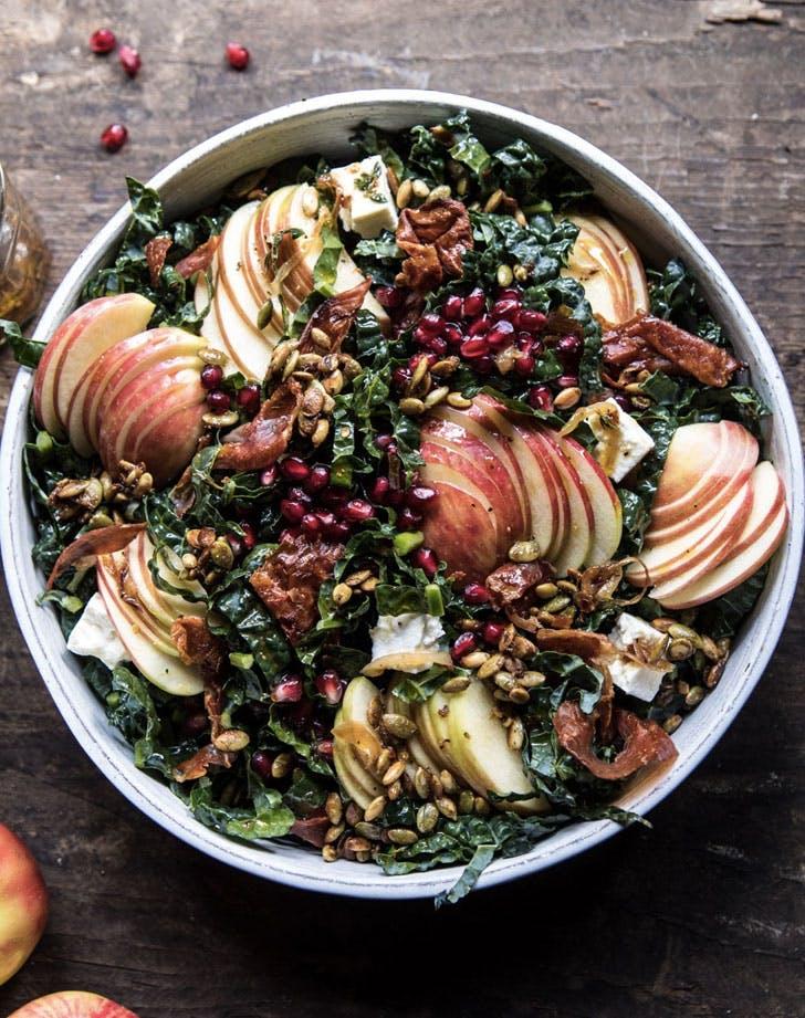 honeycrisp apple and kale salad recipe