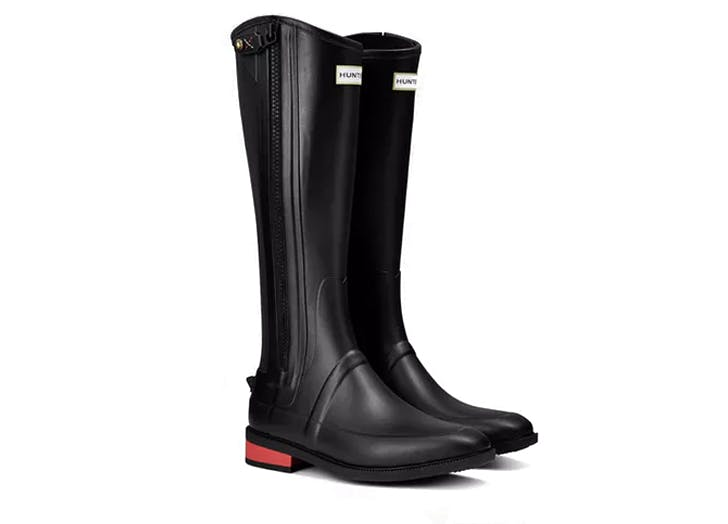 hunter knee high refined rain boots