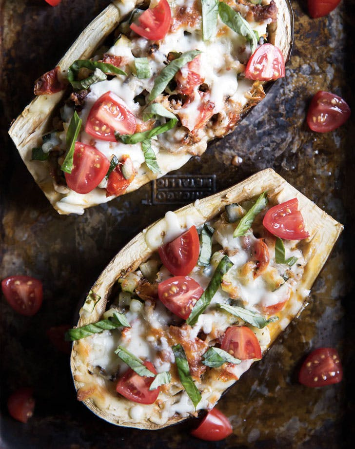 julies stuffed eggplant boats recipe
