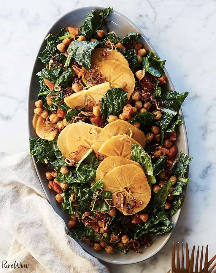 kale salad with chickpeas