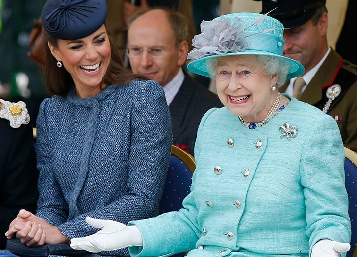 kate middleton and queen elizabeth laughing