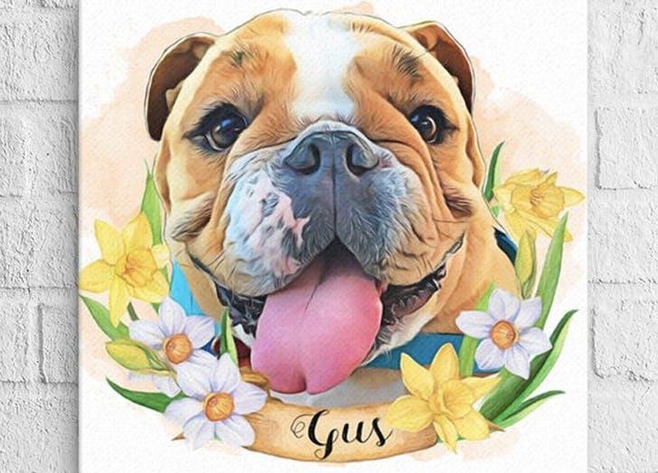 kikipettee etsy dog portraits