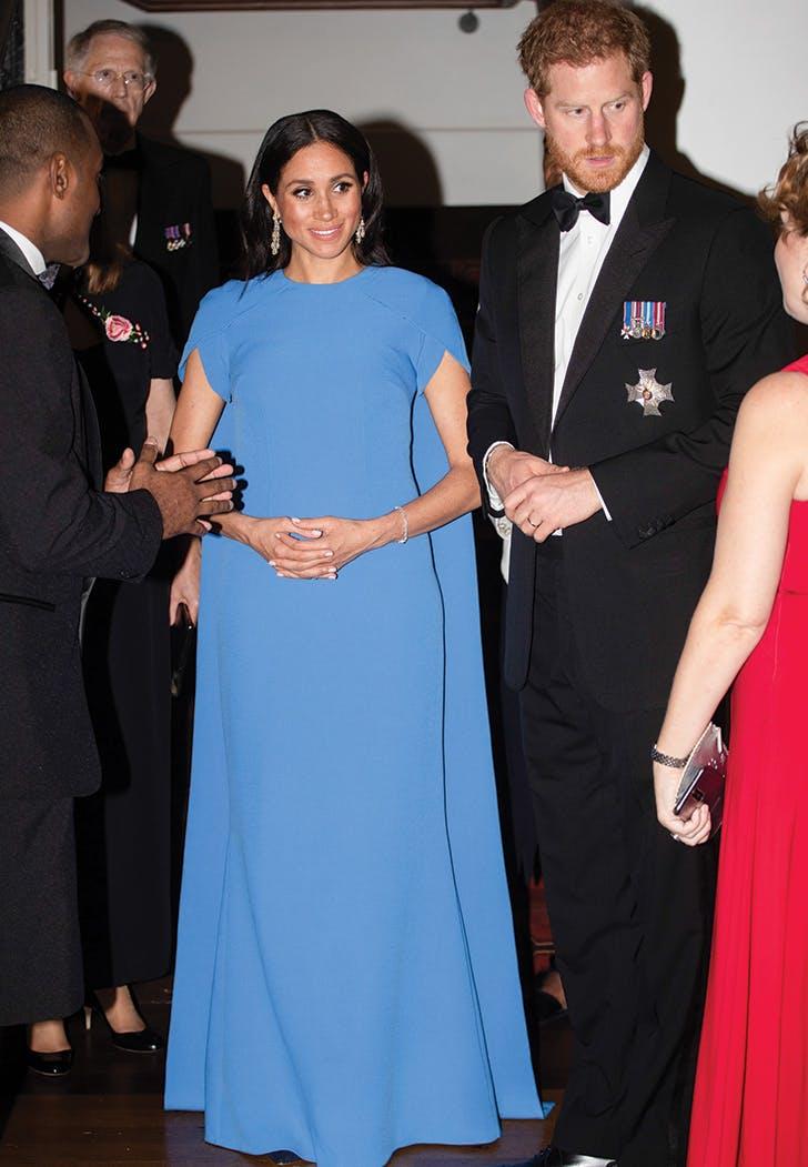 meghan markle blue cape dress prince harry2