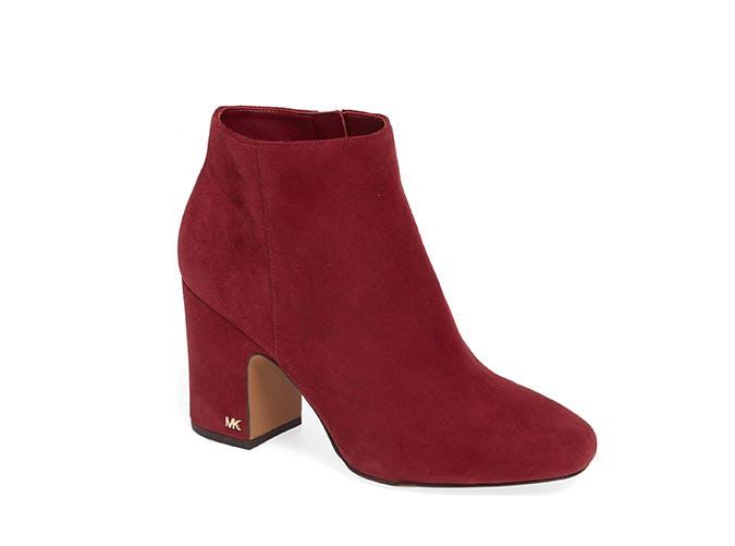 michael kors block heel boots
