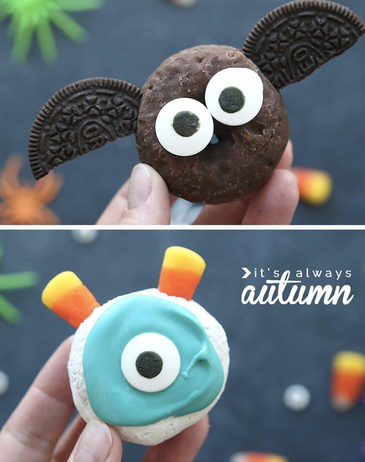 mini halloween doughnuts recipe