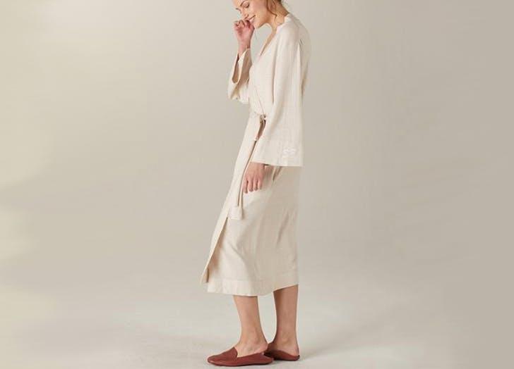 naadam monogrammed cashmere robe