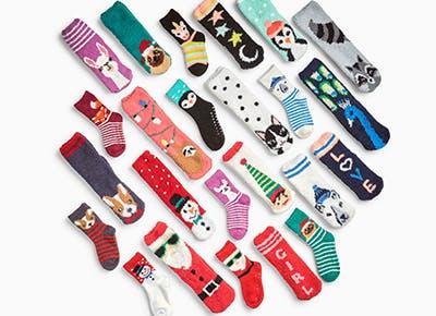 old navy holiday socks cat