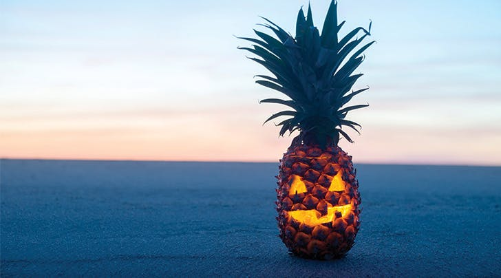 Pineapple Jack-o-Lanterns Are the Best Halloween Trend of the Year