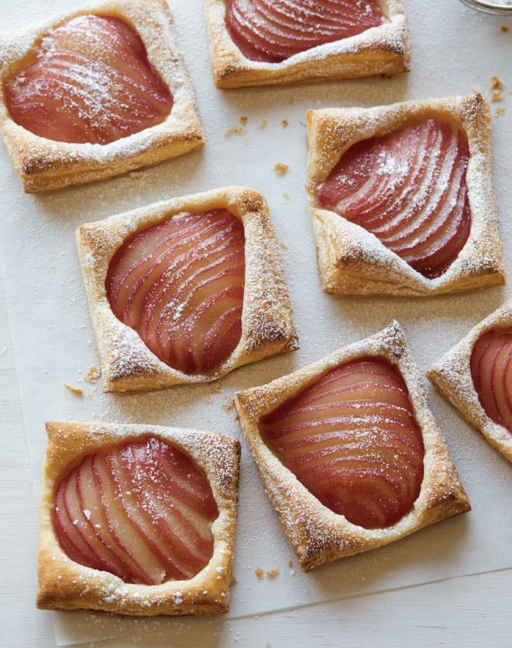 poached pear tarts recipe