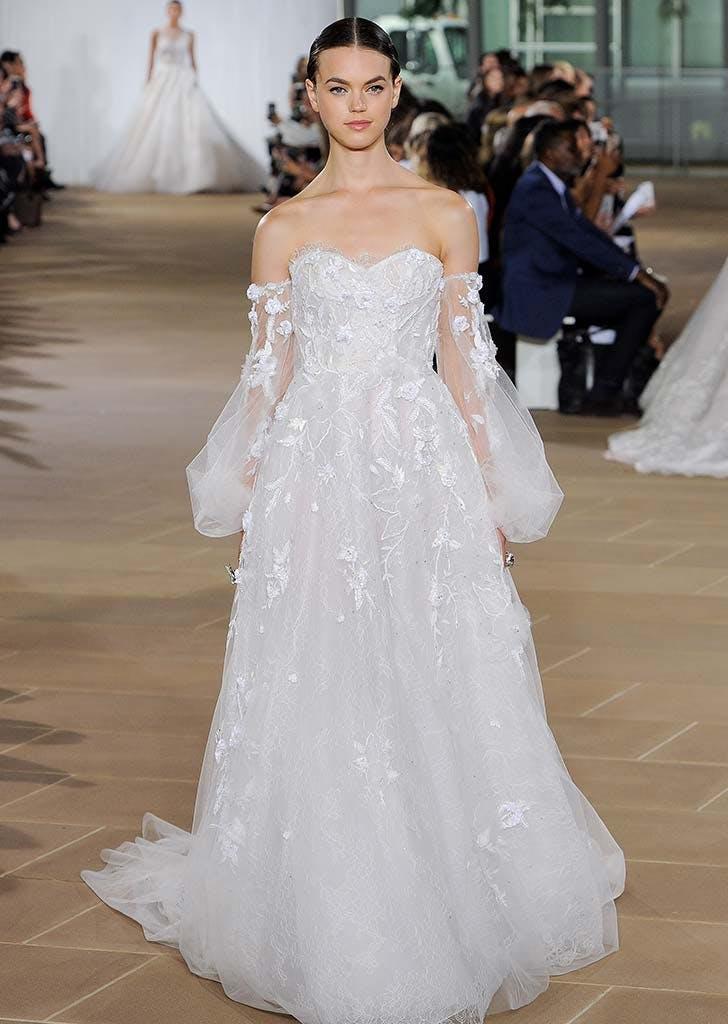 poet sleeves bridal trend 2