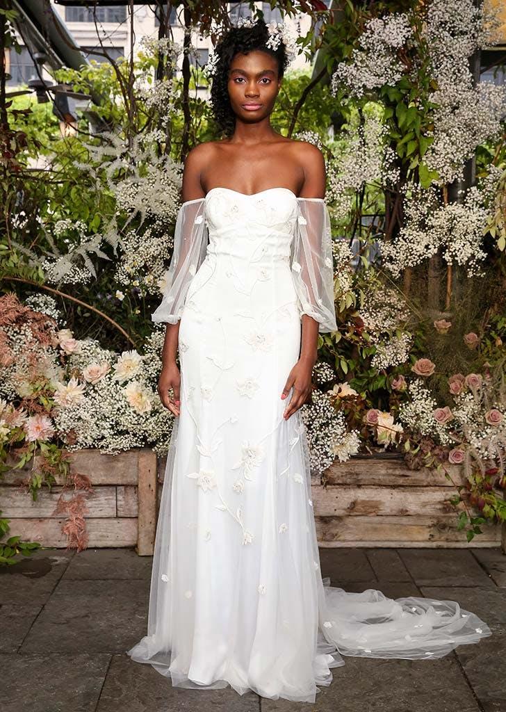 poet sleeves bridal trend 7