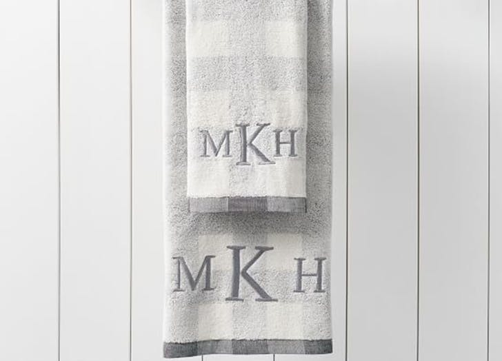 pottery barn monogrammed hand towels