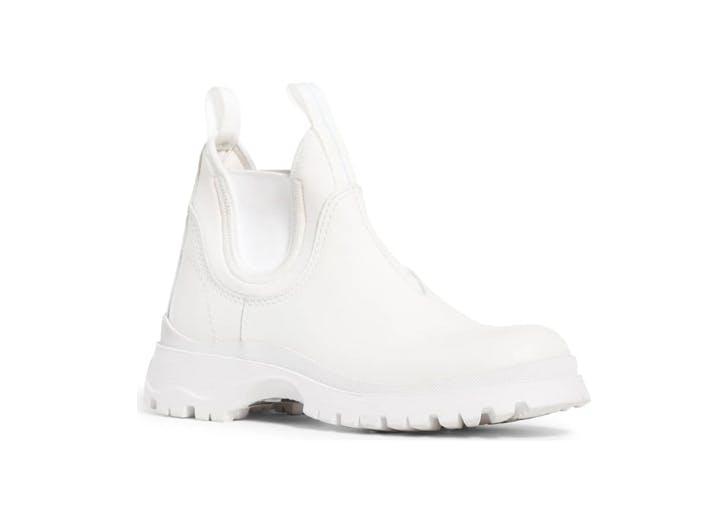 prada white rain bootie