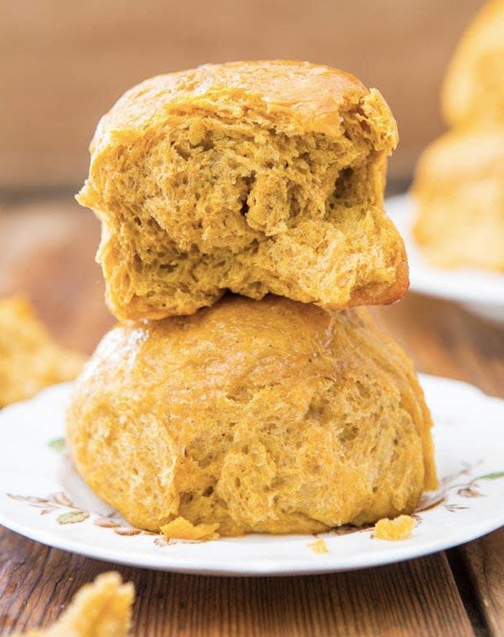 pumpkin recipes honey butter dinner rolls