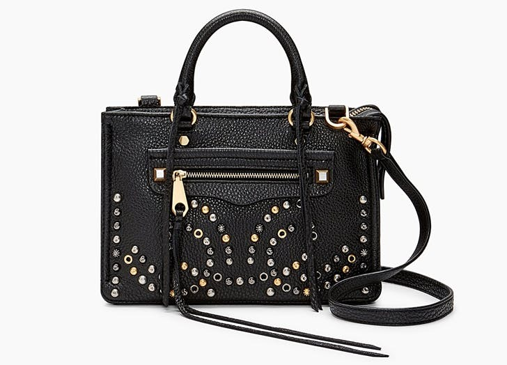 rebecca minkoff black micro regan satchel
