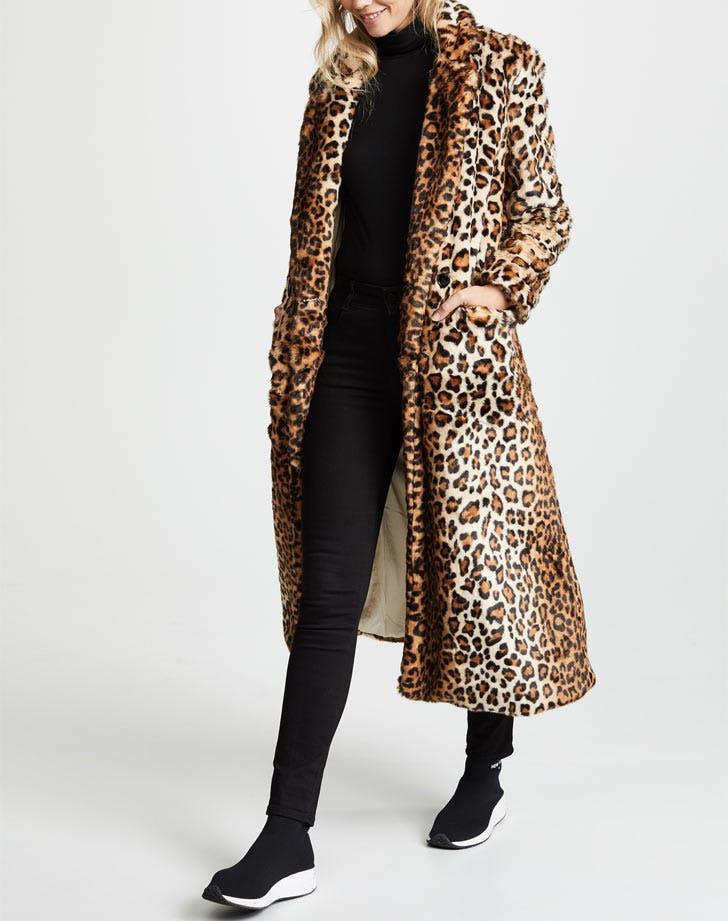 rebecca minkoff leopard print coat