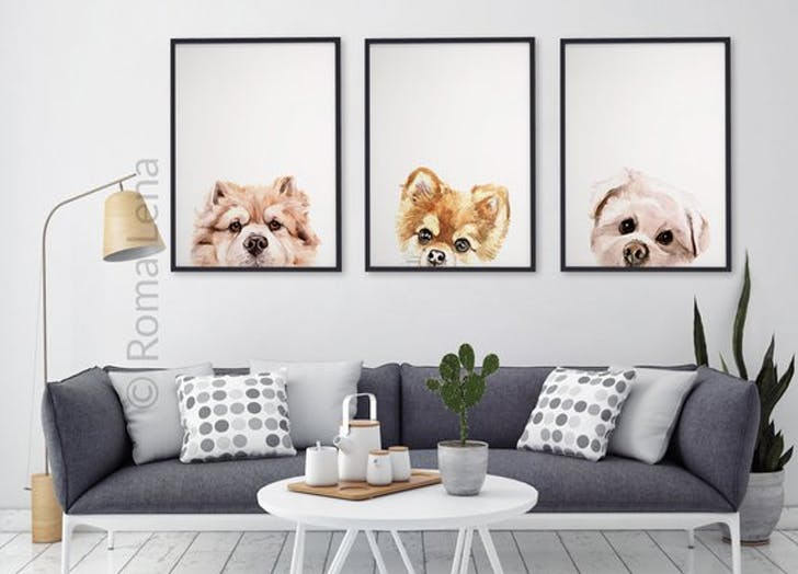 romalena etsy dog portraits