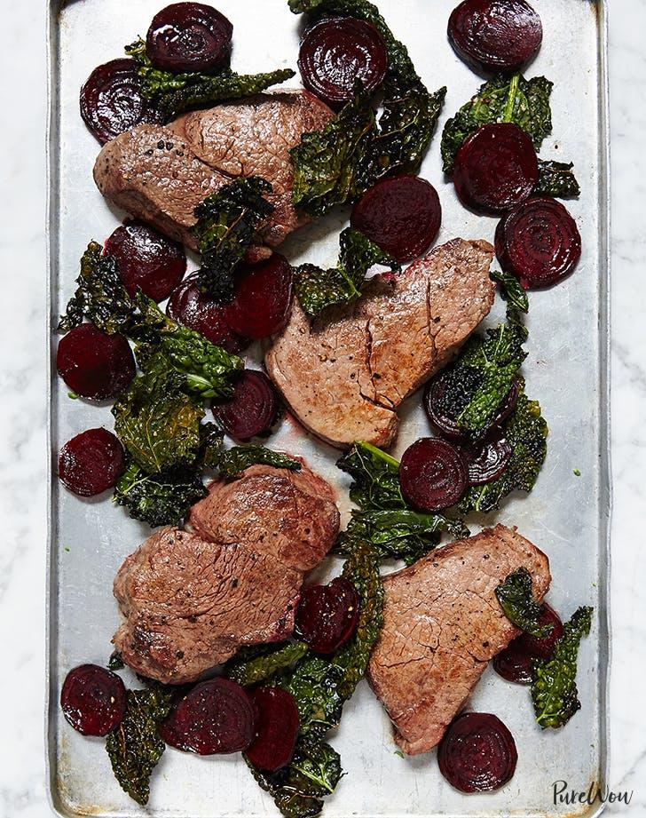 sheet pan steak beets recipe