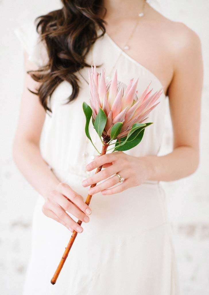 single stem wedding bouquet 21