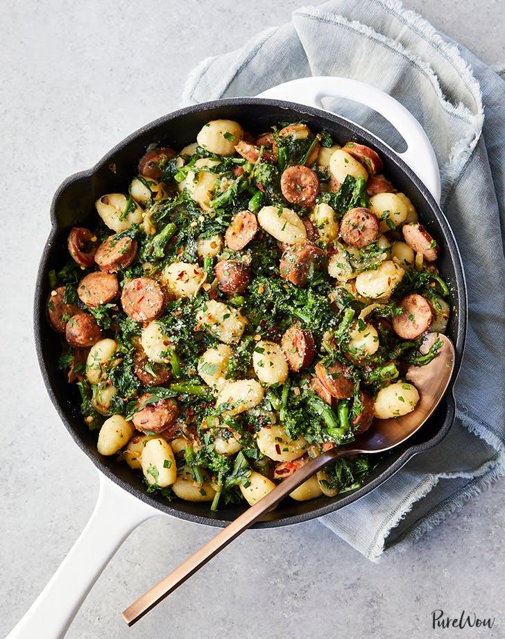 skillet gnocchi sausage broccoli rabe recipe