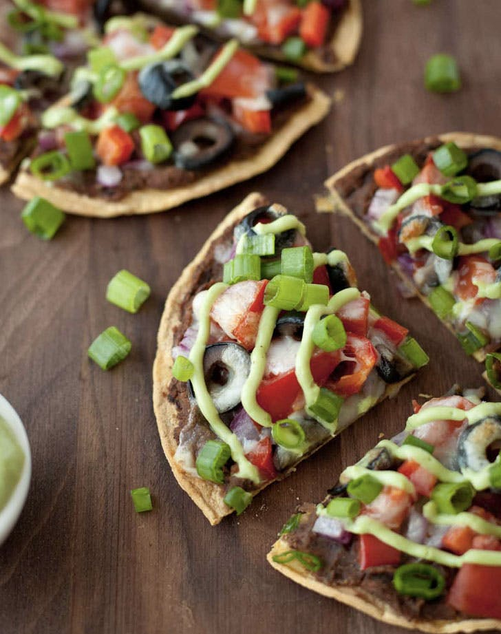 skinny black bean and veggie mexian pizza recipe