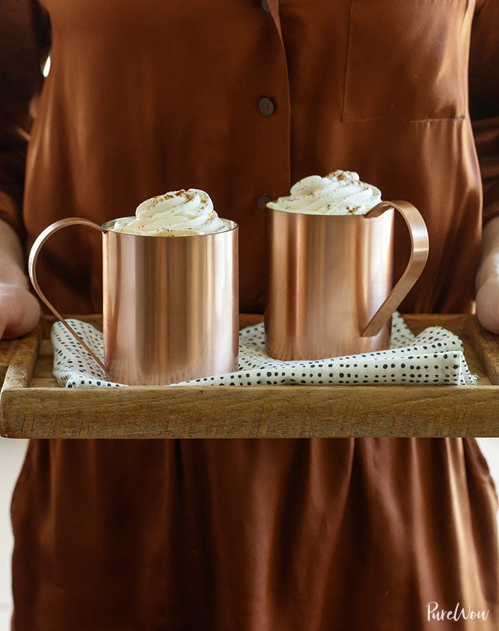 slow cooker cinnamon spiked lattes thanksgiving recipes