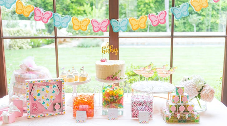 9c7069b0375 Oh, Baby: Sugarfina and Jessica Alba Teamed Up to Create Candy-Covered Bibs