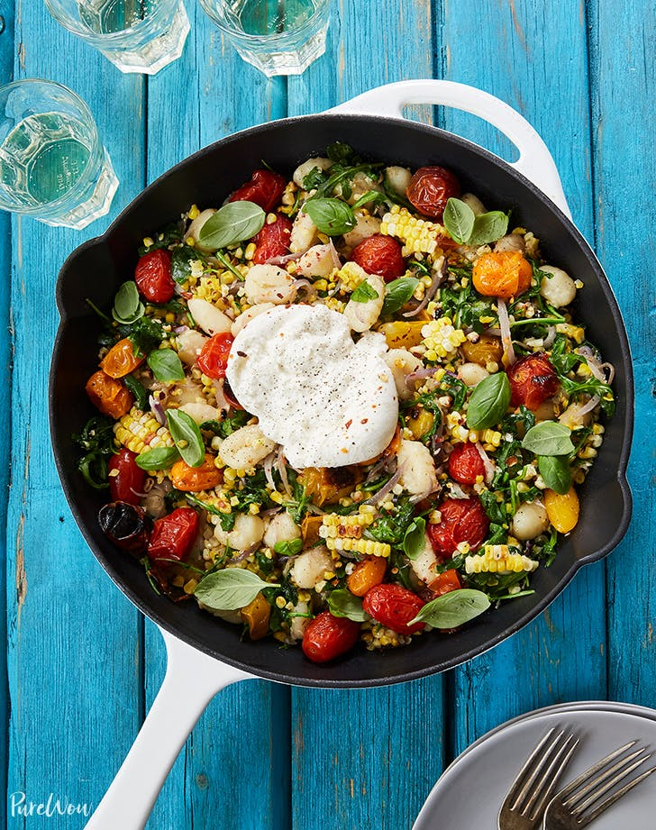 summer skillet gnocchi grilled corn burrata recipe
