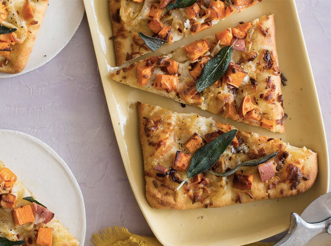 thanksgiving appetizers sweet potato flatbread