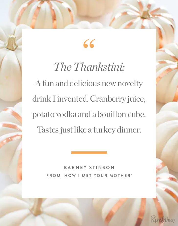 thanksgiving quote barney stinson