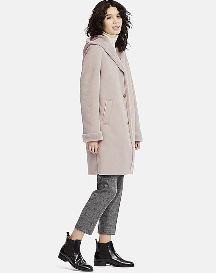 the hooded shearling