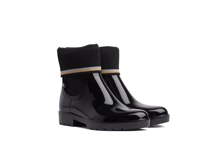 tommy hilfiger sock lined rain boot