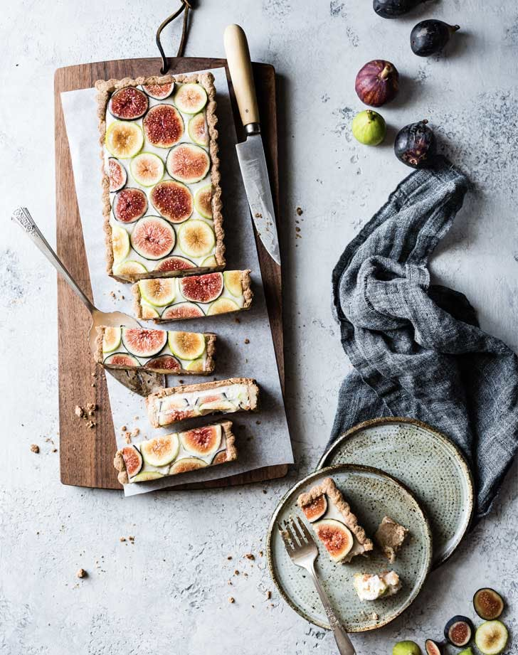 vegan thanksgiving recipes ginger fig tart