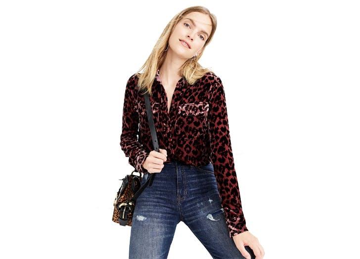velvet leopard print shirt