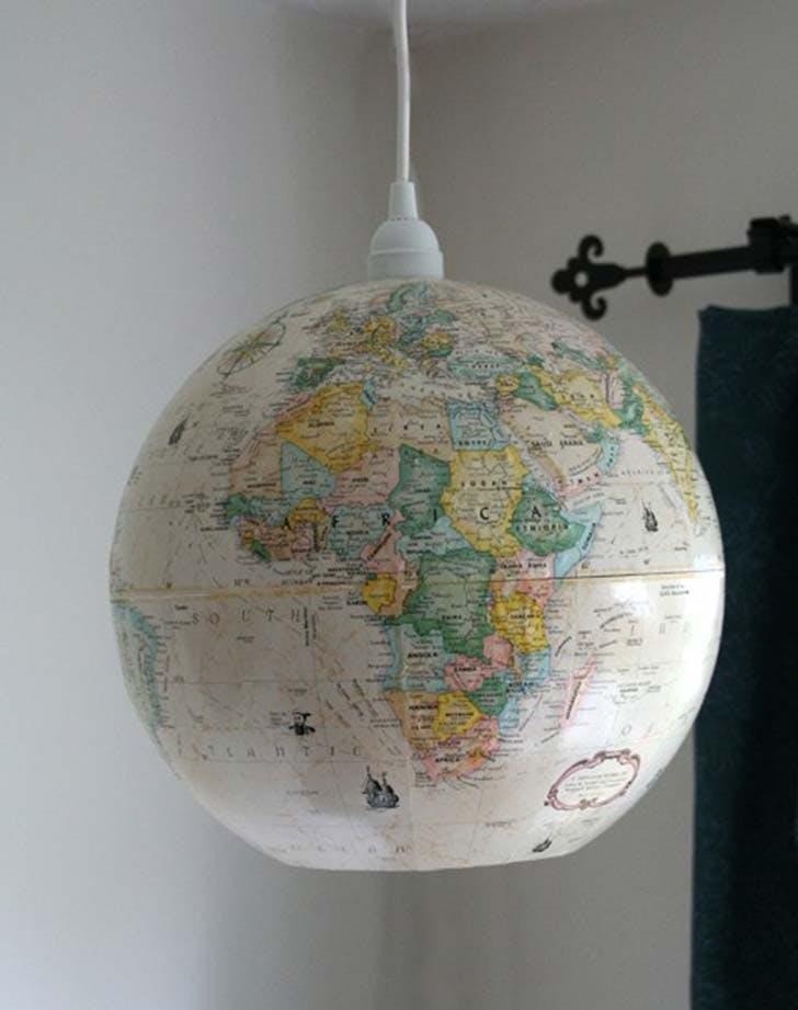 white globe diy