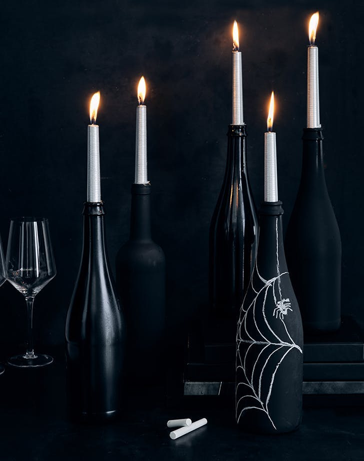 wine bottle candles1