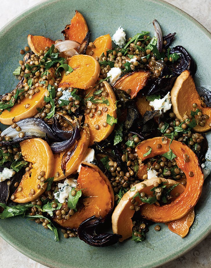 Yotam Ottolenghis Roasted Butternut Squash with Lentils and Gorgonzola
