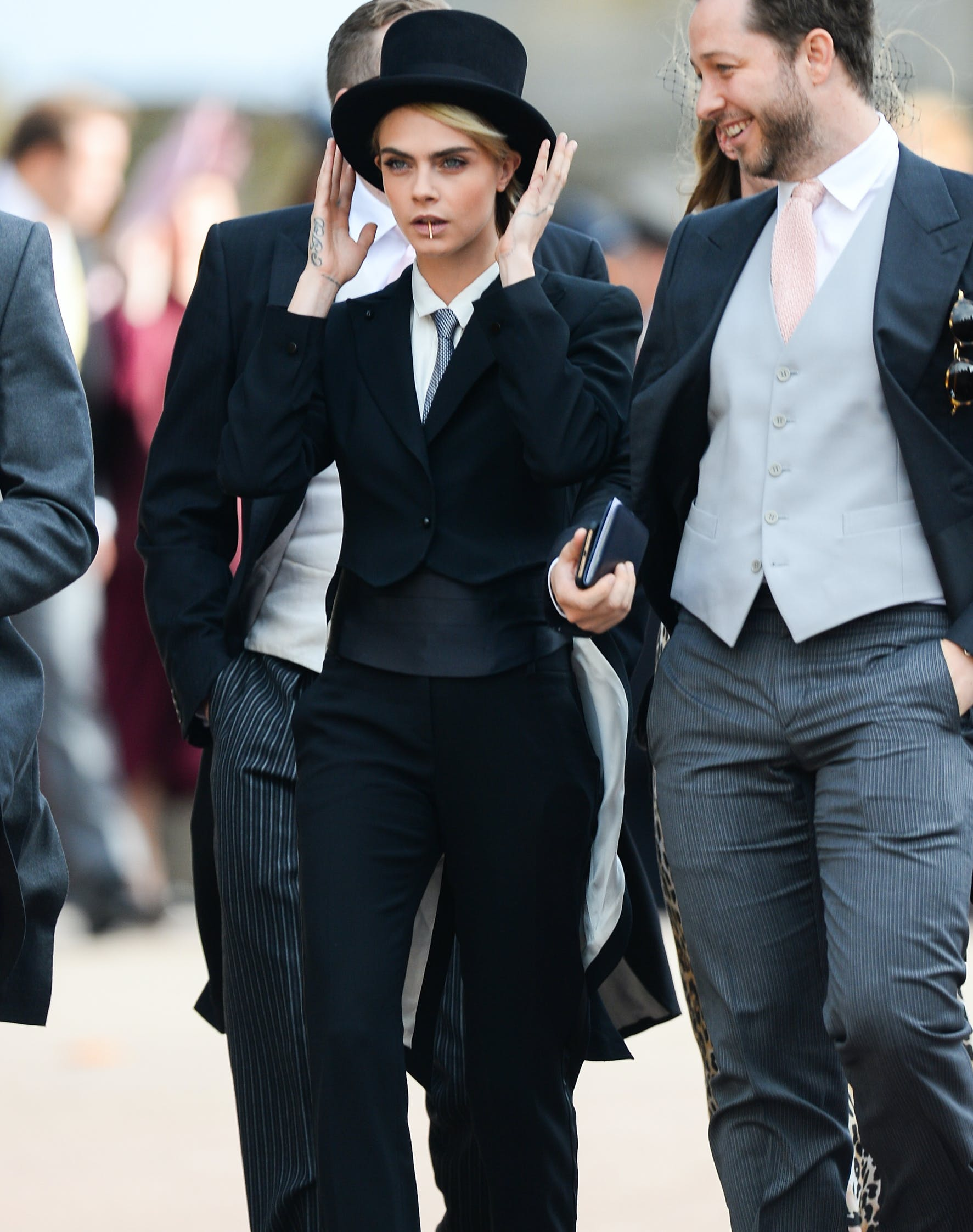 Cara Delevingne Texted Princess Eugenie Before Wearing a Tux to Her Wedding