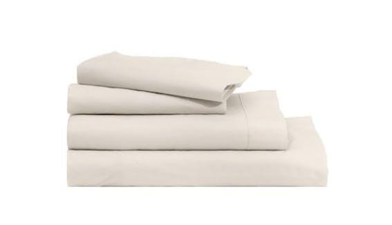 Casper Soft and Durable Supima Cotton Sheet Set  King  Cream