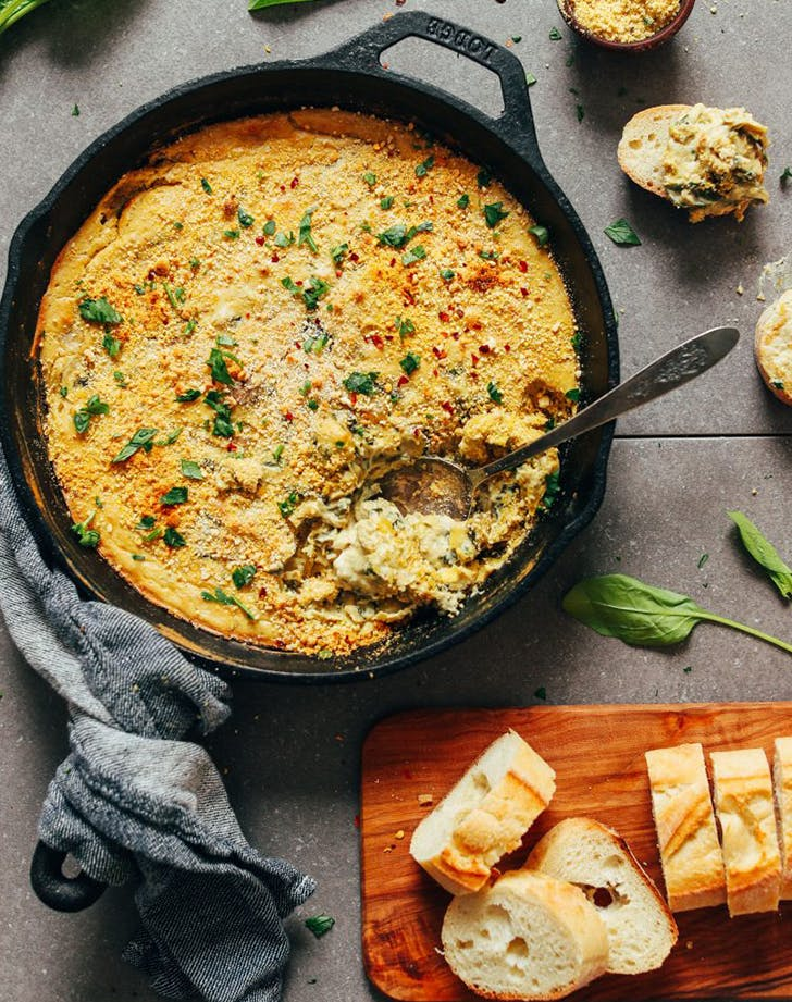Cheesy Vegan Spinach and Artichoke Dip recipe