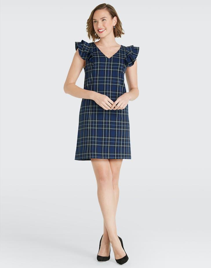 Draper James blue plaid dress