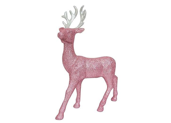 Glitter deer Christmas figurine