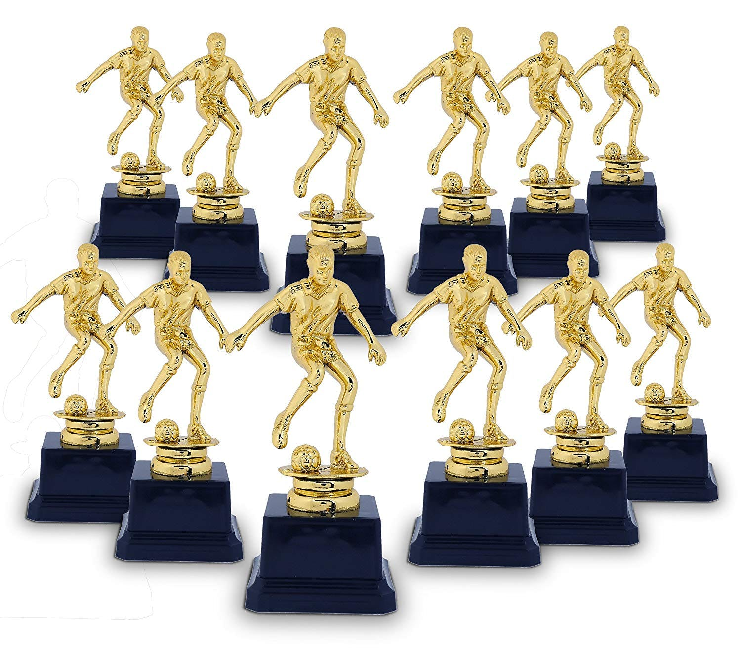 Golden trophies for Soccer Party Favors1