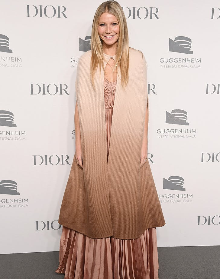 Gwyneth Paltrow Lives the Dream, Wears Luxe Blanket on Red Carpet
