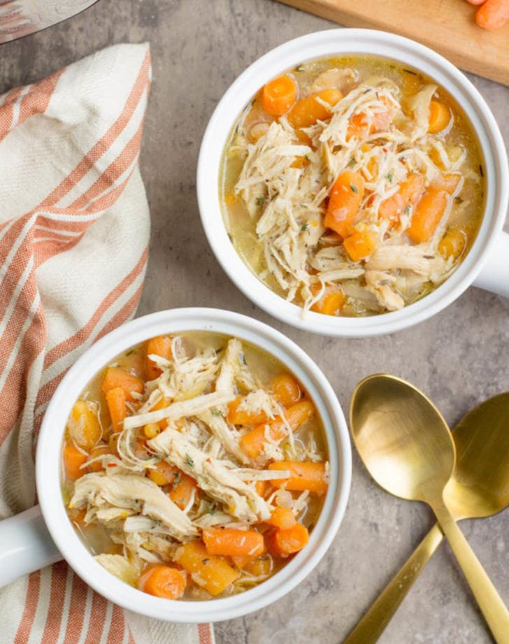 Instant Pot Healthy Lemon Chicken Soup recipe