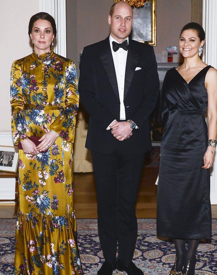 Kate Middleton in yellow erdem