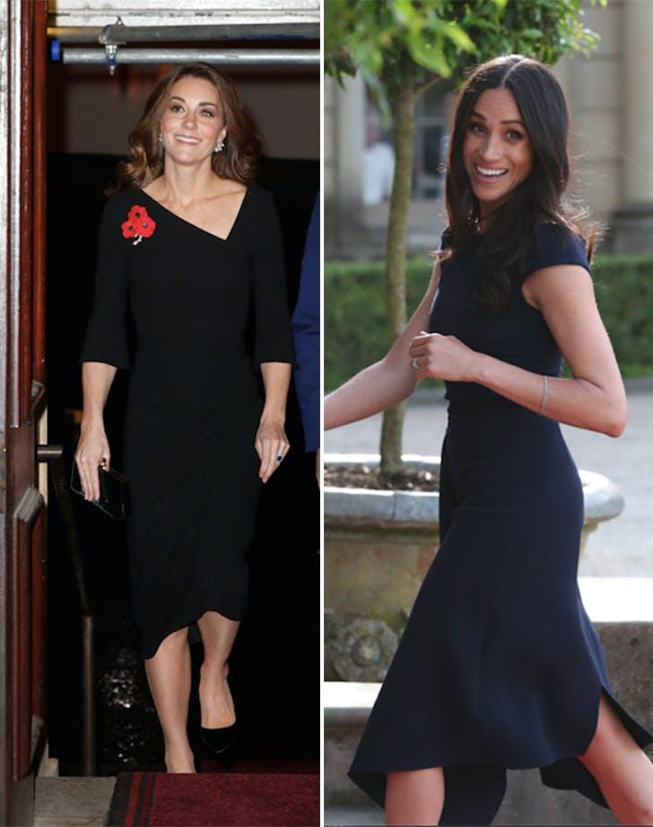 Meghan Markle Kate Middleton Roland Mouret side by side