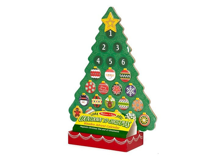 Melissa Doug Countdown Christmas Wooden Advent Calendar for kids