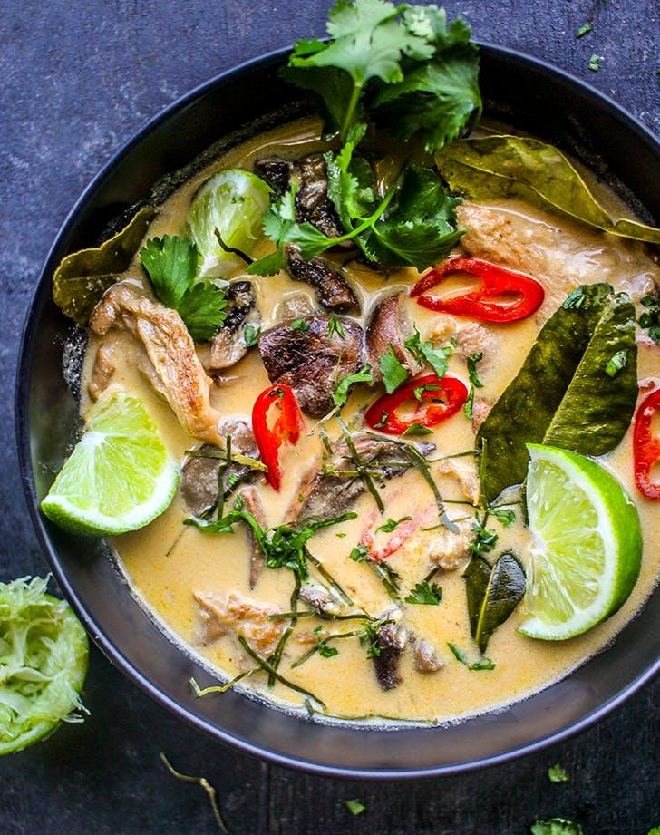 Mushroom Tom Kha Gai recipe